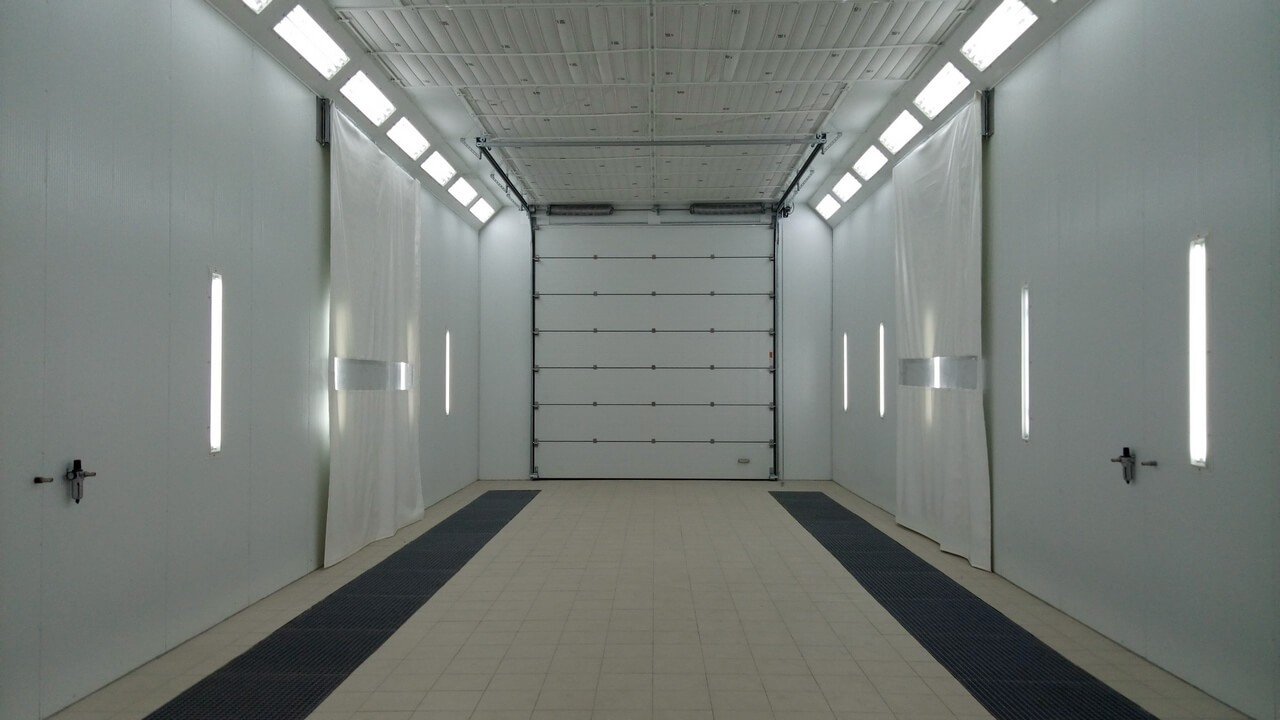 Painting and drying complex for large equipment- Aerotechnics