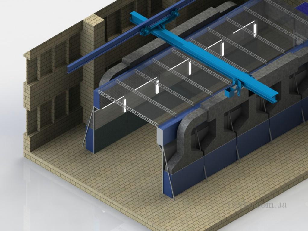 Автоштамп — покрасочная камера с раздвижной крышей