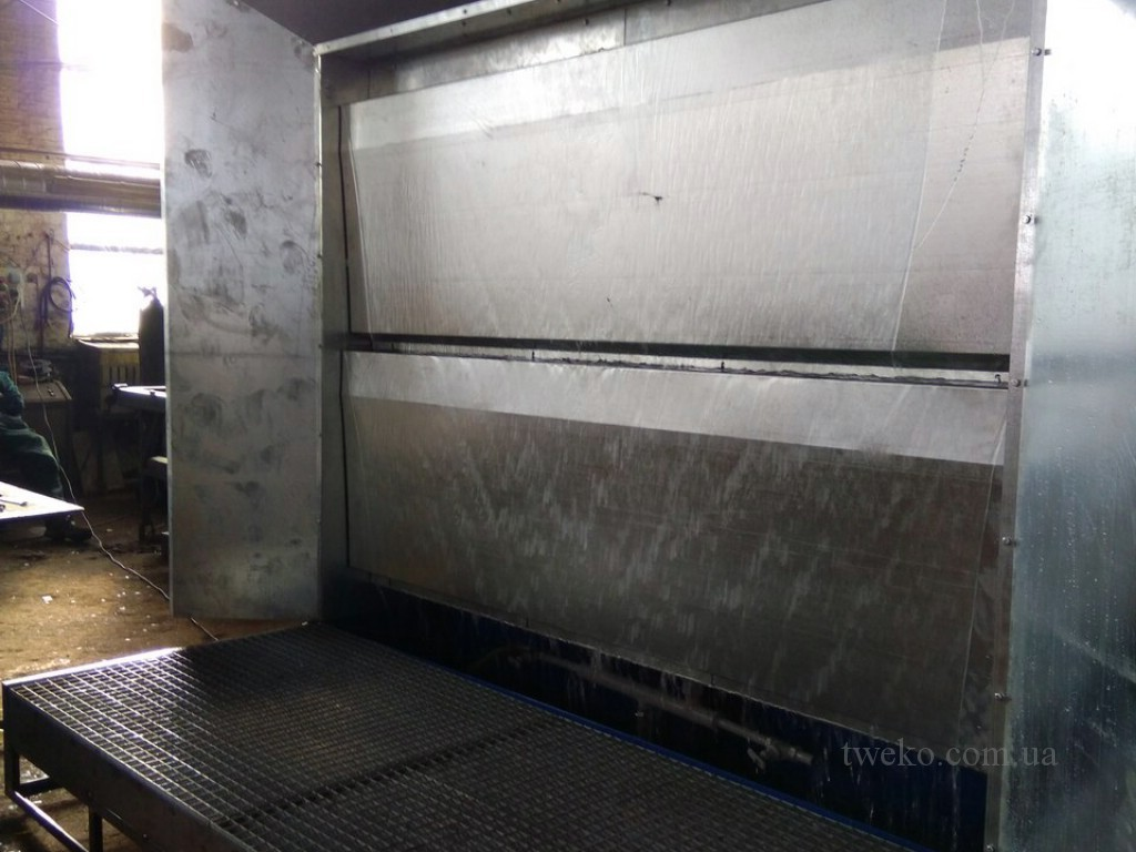 WATER CURTAIN PAINT BOOTH – «VIM» AGRICULTURAL MACHINERY PLANT