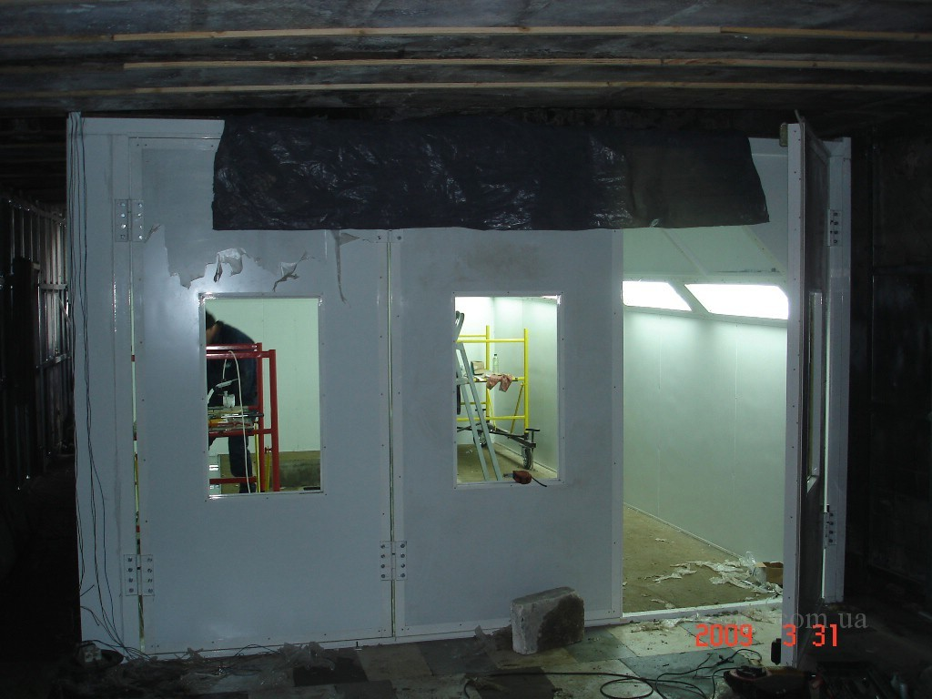 RAILWAY HIGHWAY – PAINTING CHAMBER WITH LATERAL AIR SUPPLY