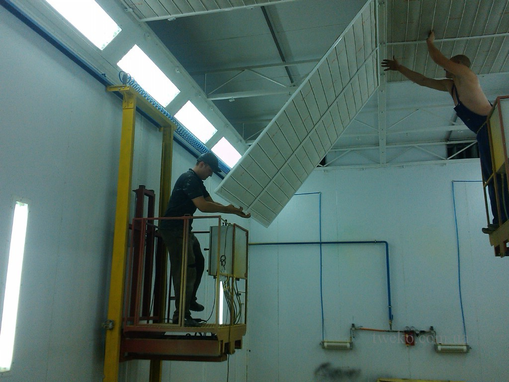 Maintenance and repair of spray booths