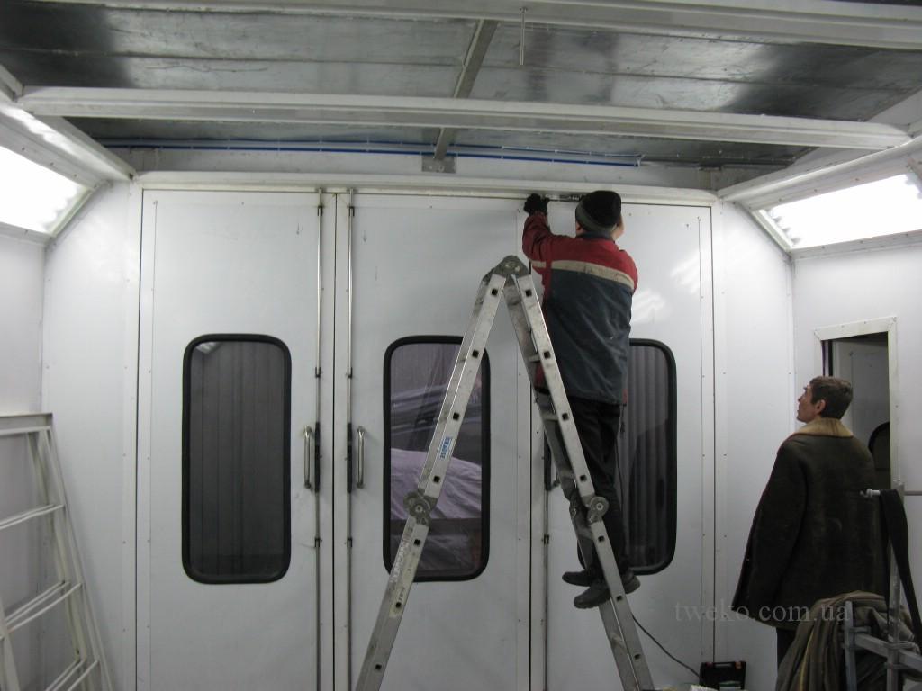Обслуживание и ремонт покрасочных камер