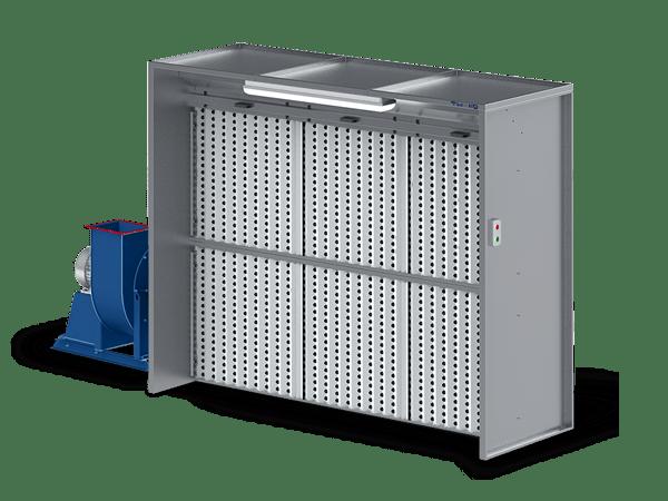 Вытяжной шкаф с сухой фильтрацией: серия ASS Cabine (ASS-C2-3)