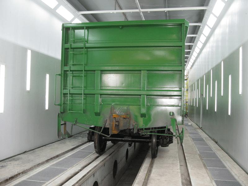 Покраска грузовых вагонов
