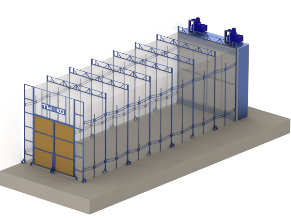 Mobile painting and drying chamber: MKFS series
