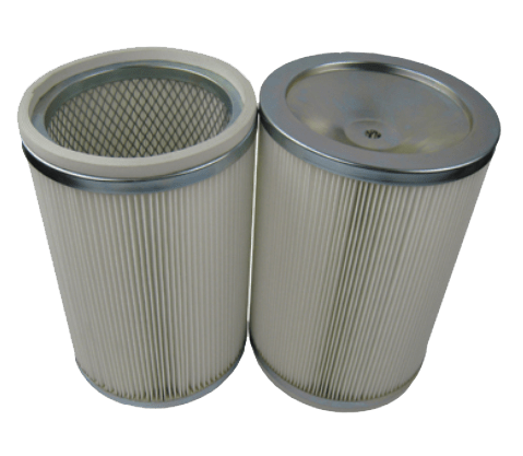 Cylindrical discharge filter