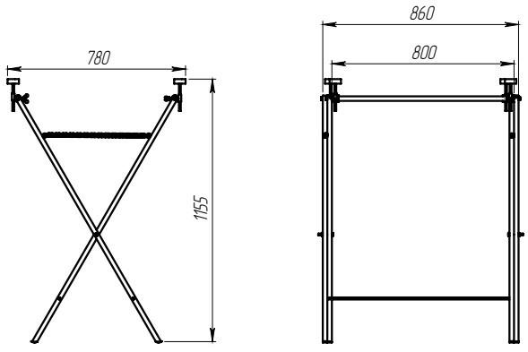Подставка Х-образная для деталей кузова